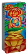 Blooms In Blue Portable Battery Charger