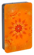 Blossom In Orange Portable Battery Charger