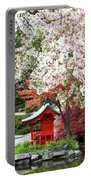 Blossoms Abound In The Japanese Garden Portable Battery Charger