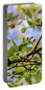 Blossoms And Leaves Portable Battery Charger