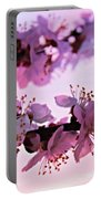 Blossoms At Sunset Portable Battery Charger