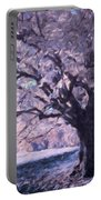 Blossoms In Winter Portable Battery Charger