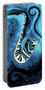 Piano Keys In A Saxophone Blue 2 - Music In Motion Portable Battery Charger
