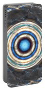 Blue Abalone Sphere Portable Battery Charger