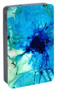 Blue Abstract Art - A Calm Energy - By Sharon Cummings Portable Battery Charger
