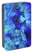 Blue Abstract Art - Reflections - Sharon Cummings Portable Battery Charger