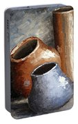 Blue And Brown Pots Portable Battery Charger