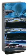 Blue And Chrome Chevy Pickup Front End Portable Battery Charger
