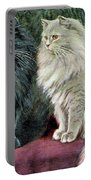 Blue And Cream Persians Portable Battery Charger