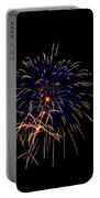 Blue And Gold Fireworks Portable Battery Charger