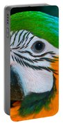Blue And Gold Macaw Headshot Portable Battery Charger