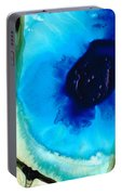 Blue And Green Art - Pools - Sharon Cummings Portable Battery Charger
