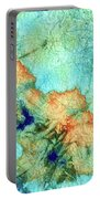 Blue And Orange Abstract - Time Dance - Sharon Cummings Portable Battery Charger