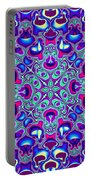 Blue And Pink Wallpaper Fractal 71 Portable Battery Charger