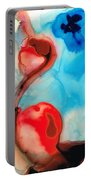 Blue And Red Art - Crimson Dance - Sharon Cummings Portable Battery Charger