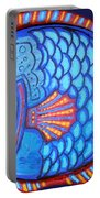 Blue And Red Fish Portable Battery Charger