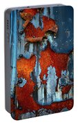 Blue And Rust Portable Battery Charger