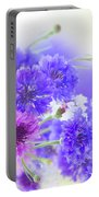 Blue And Violet Cornflowers Portable Battery Charger