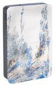 Blue And White Art - Ice Castles - Sharon Cummings Portable Battery Charger