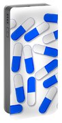Blue And White Capsules Portable Battery Charger