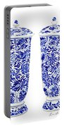 Blue And White Chinoiserie Vases Portable Battery Charger