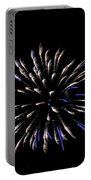 Blue And White Fireworks Portable Battery Charger