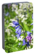 Blue And White Hyacinth Flowers Portable Battery Charger