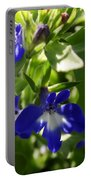 Blue And White Lobelia Portable Battery Charger
