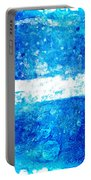 Blue And White Modern Art - Two Pools 2 - Sharon Cummings Portable Battery Charger