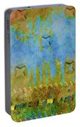 Blue And Yellow Abstract Portable Battery Charger