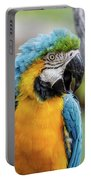 Blue And Yellow Macaw Vertical Portable Battery Charger