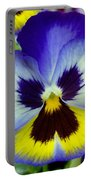Blue And Yellow Pansy Portable Battery Charger