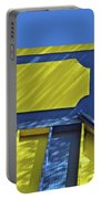 Blue And Yellow Shadows Portable Battery Charger