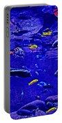 Blue Aquarium Portable Battery Charger