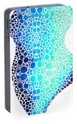 Blue Art - Colorforms 3 - Sharon Cummings  Portable Battery Charger