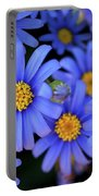 Blue Asters Portable Battery Charger