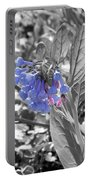 Blue Bell Flower Portable Battery Charger