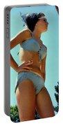 Blue Bikini Tattoo Hand Portable Battery Charger