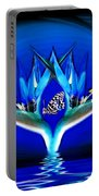 Blue Bird Of Paradise Portable Battery Charger