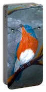 Blue Bird On Slate Portable Battery Charger