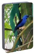Blue Bird With A Curved Bill Portable Battery Charger