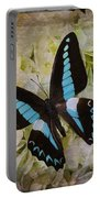 Blue Black Butterfly Dreams Portable Battery Charger