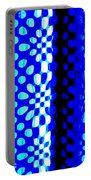 Blue Black Pattern Abstract Portable Battery Charger