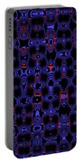 Blue Black Red Warp Abstract Portable Battery Charger
