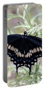 Blue Black Swallowtail Portable Battery Charger