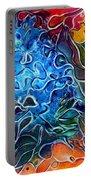Blue Blossom Portable Battery Charger