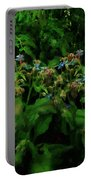 Blue Blossoms By Moonlight Portable Battery Charger