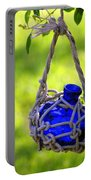Small Blue Bottle Garden Art Portable Battery Charger