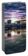 Blue Bridge At Sunset Portable Battery Charger