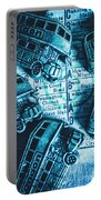 Blue Britain Bus Bill Portable Battery Charger